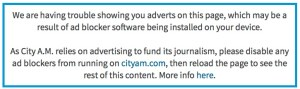 CityAM Blocking