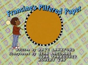 Francine's Pilfered Paper Title