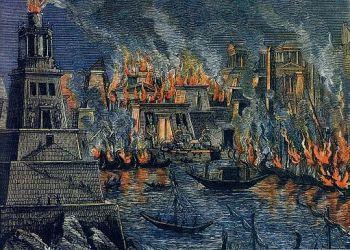 Library of Alexandria Burning