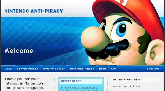 Nintendo Piracy Homepage Image