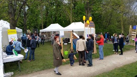 Le monte-charge solaire à la fête des tulipes