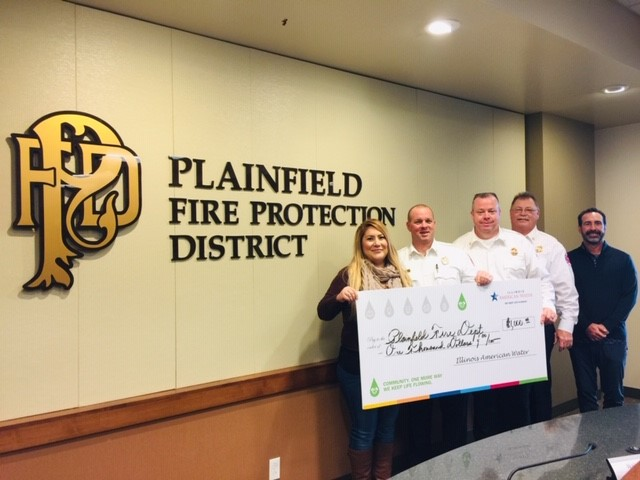 Plainfield firefighters receiving grant