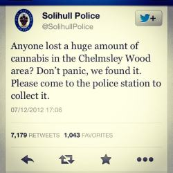 Notice lost cannabis