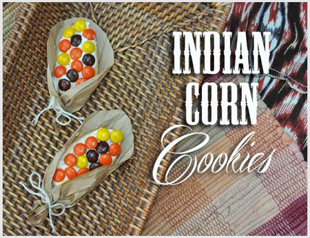 Indian corn cookies