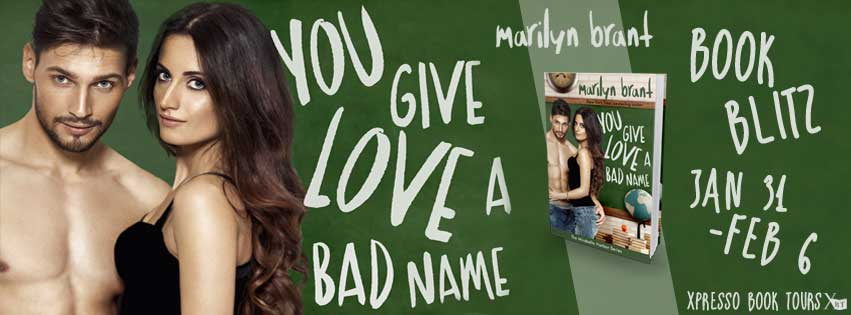 You Give love a bad name banner