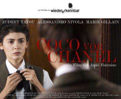 """Mein Alternativvorschlag für das Plakat zu """"Coco Chanel"""" mit Audrey Tatou"""