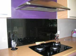 credence en verre noir epaisseur 6 mm verre trempe et laque noir