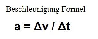 Beschleunigung - Aufgaben mit der Formel berechnen