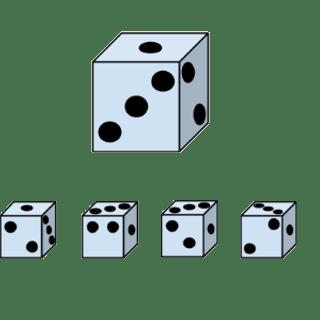 Welcher Würfel passt zur Abbildung oben? (Würfel Nr.2)