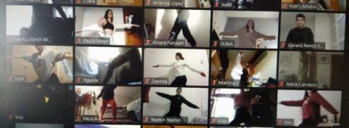 SESSIÓ de IOGA, 52 alumnes de 1r de TAPD fan una activitat on-line del projecte d'AUTOCURA.