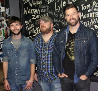 Members (l-r in the image above): Jory Hutchens (fiddle), Paul Priest (bass & vocals) and Josh Mitcham (guitar & vocals).