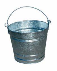 Galvanized pail for eggs