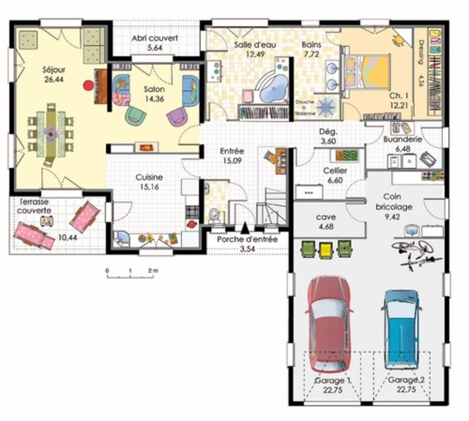 Plan De Maison Moderne plan de maison moderne, contemporaine et design - plans