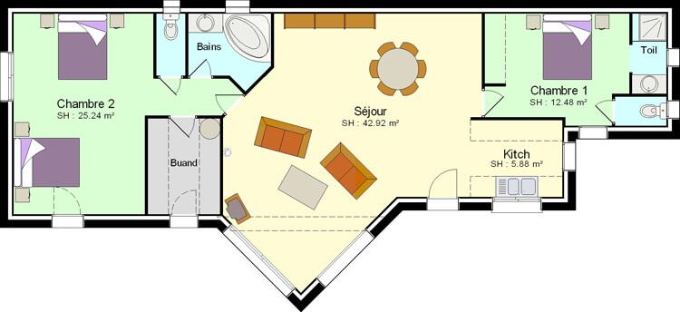 Faire Construire Une Petite Maison Avec 2 Chambres Plans Maisons