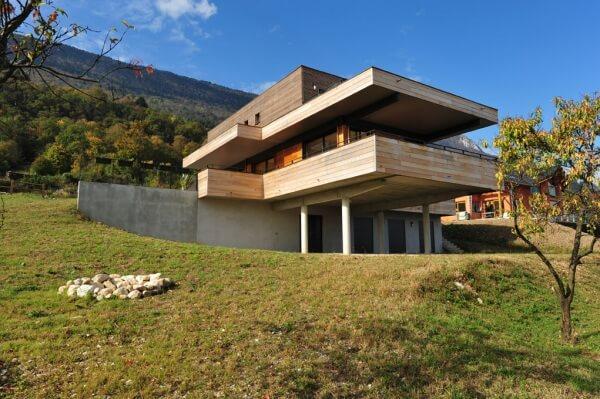 Maison ossature bois contemporaine en Savoie