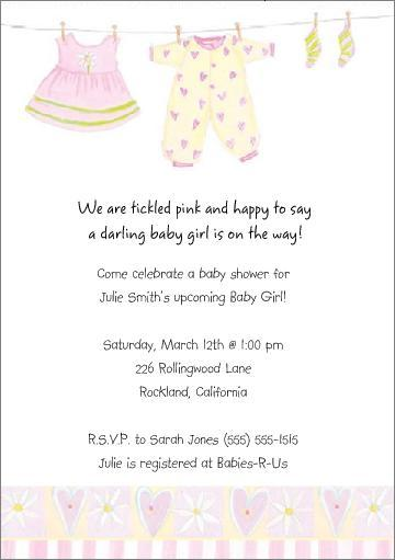 Cute Personalized Baby Shower Invitations