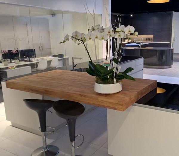 Cuisine Plan De Travail Bois Massif Sur Mesure Epaisflip Design Bois
