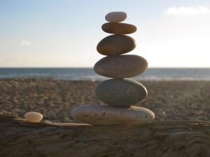 Photo of stacked stones