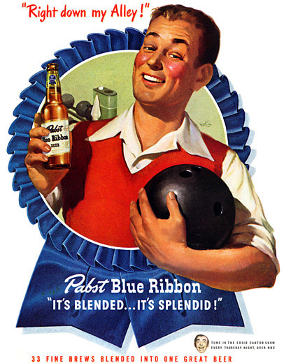 Gee, I looked like a huge whitebread tool back. I never thought Pabst drinkers would one day become so damn cool ...