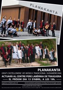Cartel actuación Traiguera 2013