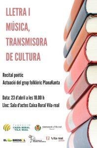 Cartel actuación Planakanta Vila-real