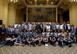 Diputados  reconocieron a Atletas que participaron en los Juegos Olímpicos de la Juventud