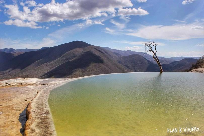 plan b viajero, hierve el agua oaxaca, viajar en bici por Oaxaca
