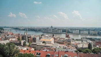 Blick auf Budapest von oben
