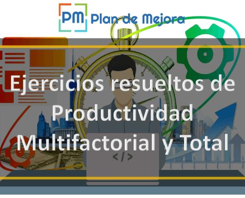 Ejercicios resueltos de Productividad Multifactorial y Total