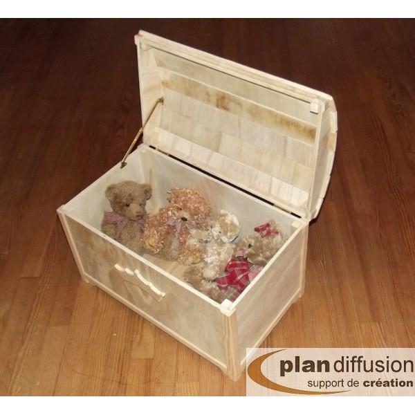 plan coffre a jouet en bois plandiffusion