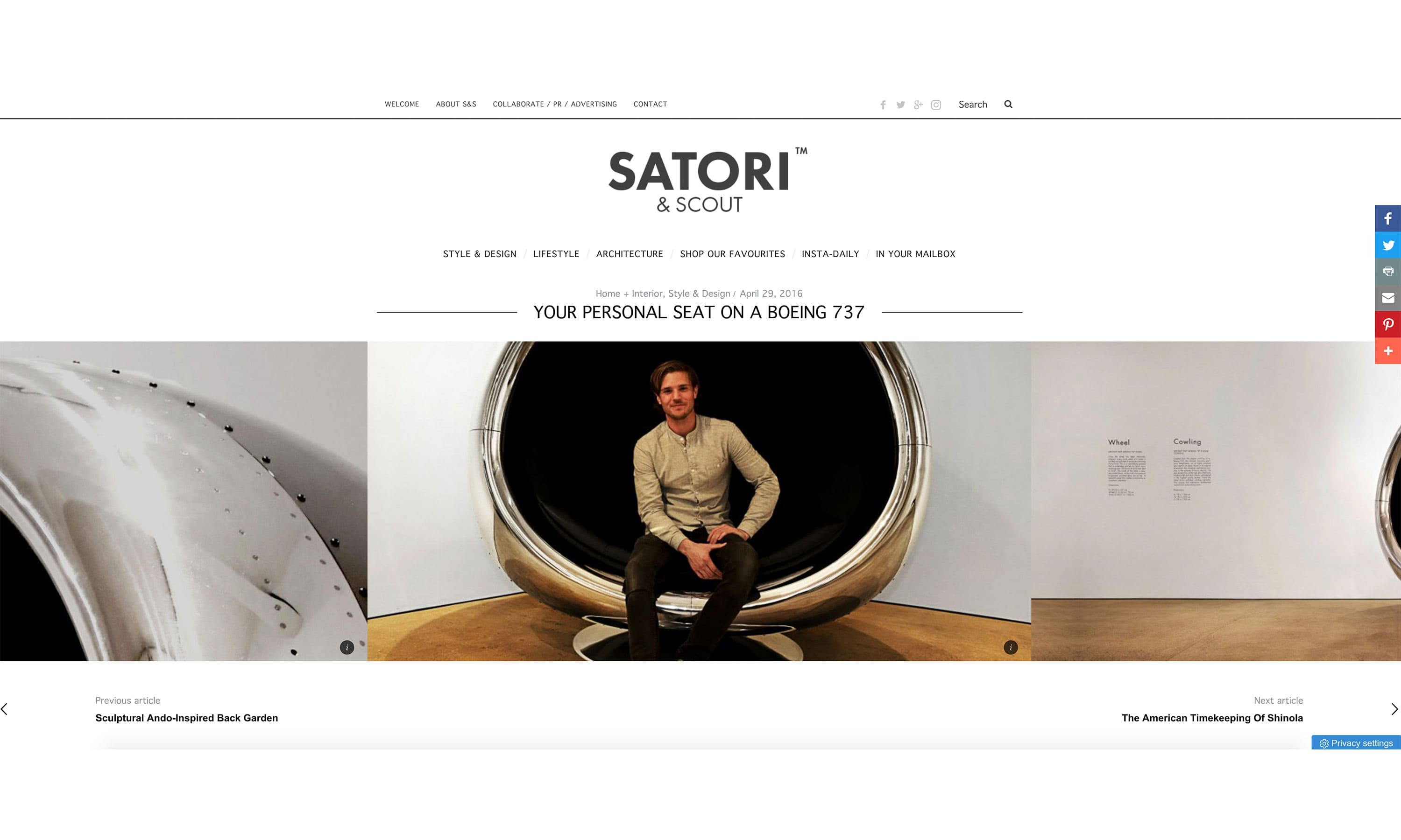 Satori & Scout Press Feature Plane Industries