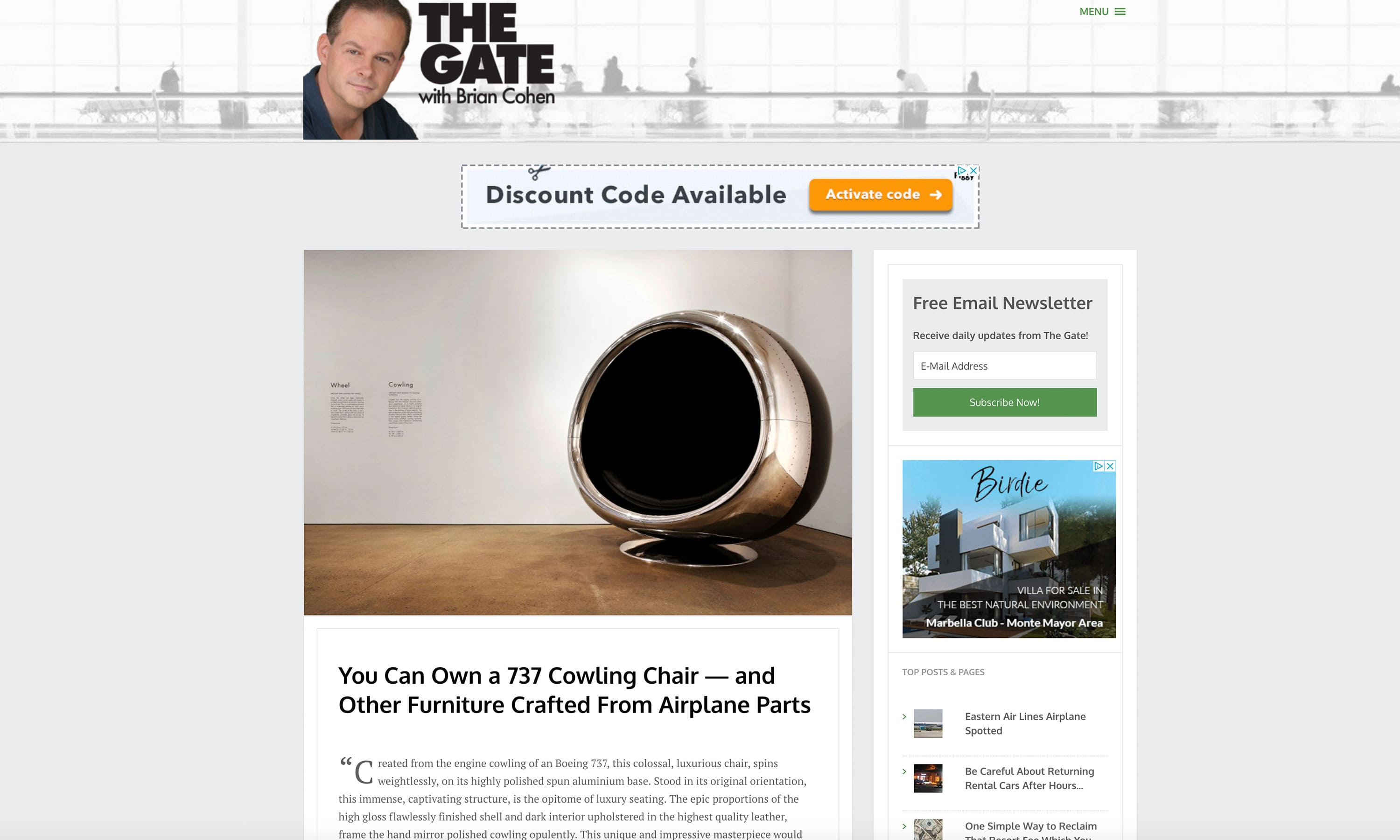 The Gate Press Release Aviation Furniture
