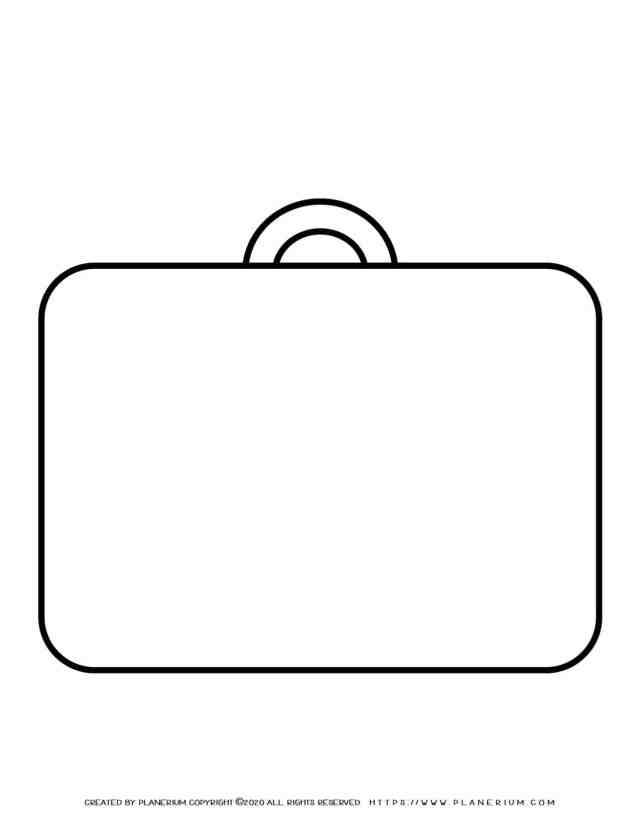 Suitcase Outline  Planerium
