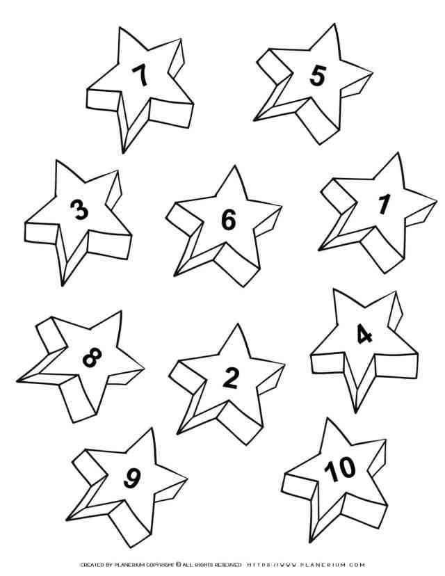 Numbers 26-260  Ten Stars  Free Printable  Planerium