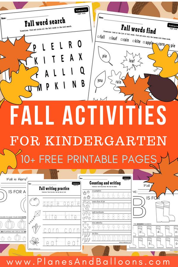 10 Fall Worksheets Kindergarten Teachers And Students