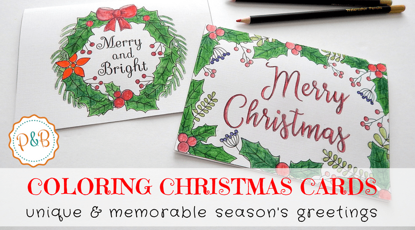 6 Unique Christmas Cards To Color Free Printable Download