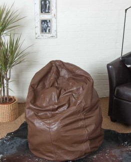 www.planet-craft.com-baron-chocolate-thick-buffalo-leather-bean-bag-beanbag-134
