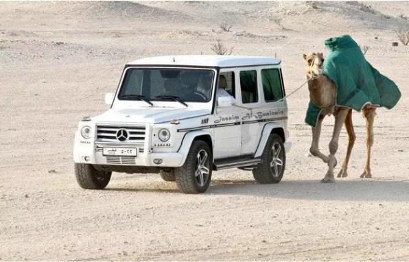 Co takhle vyvenčit velblouda z Mercedesu?