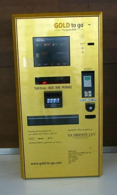 Automat na zlato je opravdu jen v Dubaji...