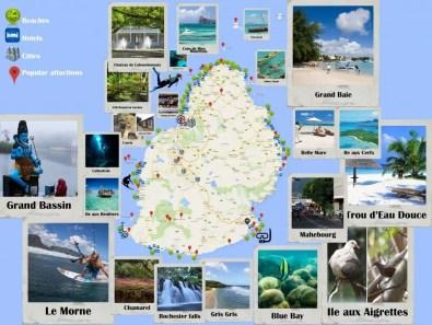 Zajímavá místa na Mauriciu