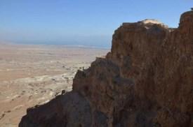 Masada - výhled na okolí a Mrtvé moře