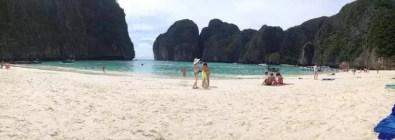 Pláže v zátoce na Phi Phi