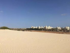 Písečné duny za hotelem Riu Karamboa, Kapverdy ostrov Boa Vista