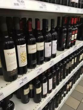 Cena alkoholu, vína na Sardinii