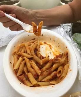 Nejlevnější jídlo ze stánku na Sardinii výborné