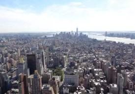 Pohled na Manhattan z ptačí perspektivy, New York