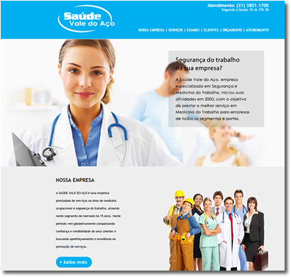 Site institucional | Saúde Vale do Aço