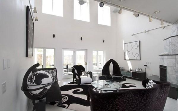 Colores de decoración: blanco y negro
