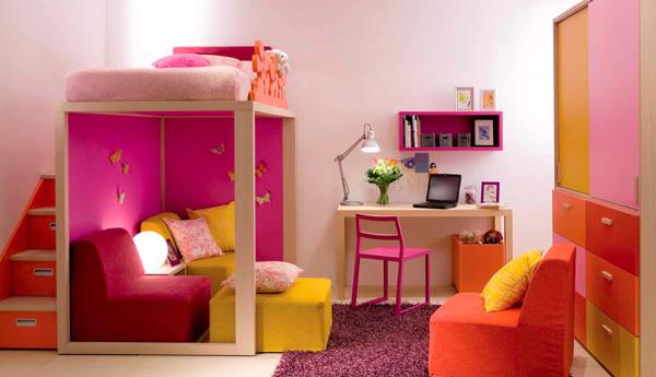 Decoración de habitaciones infantiles: luz y color
