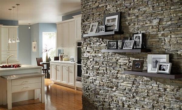 Revestimiento de piedra elegancia y solidez - Decoracion en piedra para interiores ...